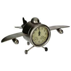 zegar stojący airplane 58x32x28cm, 58x32x28cm marki Dekoria
