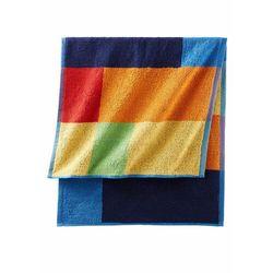 Ręczniki z nadrukiem w kolorowe kwadraty kolorowy marki Bonprix