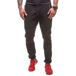 Athletic Czarne spodnie dresowe męskie Denley 0469 - CZARNY, czarna