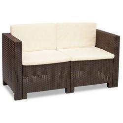 Dwuosobowa technorattanowa sofa Colorado brąz (8003723390146)