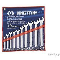 King tony Zestaw kluczy płasko-oczkowych 10cz. 8 -24mm. 1210mr