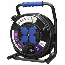 Przedłużacz bębnowy profesjonalny IP44, 4 gniazda 2P+Z, kabel gumowy olejoodporny, H07RN-F 3x2,5mm2 OR-AE-13157/40M (5900378655497)