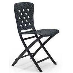 Designerskie składane krzesło ogrodowe na balkon Nardi Zic Zac Spring antracytowe