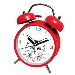Atrix Super cichy budzik metalowy z dzwonkami #kot r