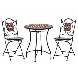 3-cz. ceramiczny, terakotowy zestaw mebli bistro – Revels