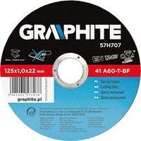 Graphite Tarcza do cięcia  57h707 125 x 1.0 x 22.2 mm do metalu