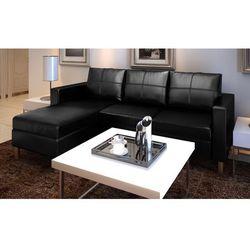 vidaXL Sofa z czarnej sztucznej skóry 3 osobowa - sprawdź w wybranym sklepie