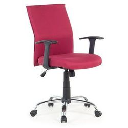 Krzesło biurowe - czerwone - obrotowe - tapicerowane - do komputera - ELITE (7081451125132)