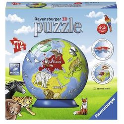 malowany globus 72 puzzli marki Ravensburger