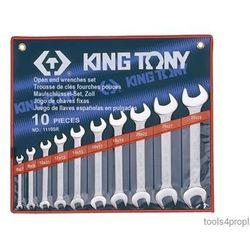 ZESTAW KLUCZY PŁASKICH 10cz. CALOWE 1/4 - 1.1/8'' King Tony 1110SR
