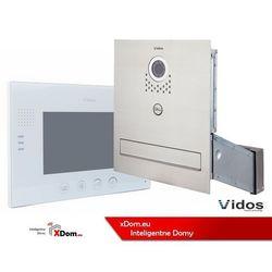 Zestaw jednorodzinny wideodomofonu. skrzynka na listy z wideodomofonem. monitor 7'' s551-skm_m670w marki Vidos