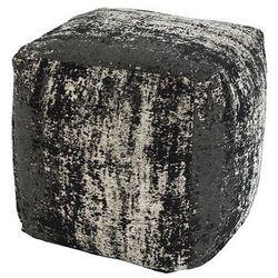 Vintage kwadratowy puf czarny 45 x 45 x 45cm - Kochi, kolor czarny