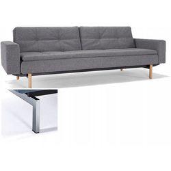 INNOVATION iStyle Sofa Dublexo z podłokietnikami szara 563 nogi chromowane - 741050020563-741010020-0-2 - produkt z kategorii- Sofy