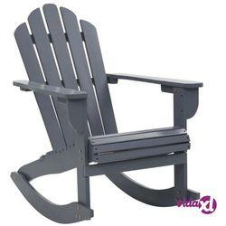 ogrodowy fotel bujany, drewniany, szary marki Vidaxl