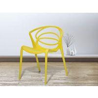 Krzesło żółte - do jadalni - ogrodowe - do kuchni - kuchenne - bend marki Beliani