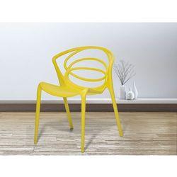 Beliani Krzesło żółte - do jadalni - ogrodowe - do kuchni - kuchenne - bend (7081455613130)