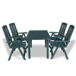 Zestaw mebli ogrodowych elexio 2x - zielony marki Producent: elior