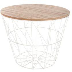 Atmosphera créateur d'intérieur Okrągły stolik kawowy na metalowych nogach, stolik do kawy, stolik do salonu, stolik do pokoju, biały stolik, stolik metalowy