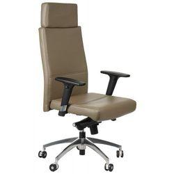 Fotel biurowy gabinetowy gn-102/beżowo-szary krzesło biurowe obrotowe marki Stema - gn