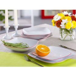 Zakłady porcelany ćmielów s.a. Zestaw obiadowy 6/18 dek. tl04 akcent-ćmielów