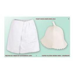 Produkcja własna Kilt ręcznik 50*140cm 100% bawełna + czapka biała do sauny e