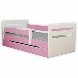 Producent: elior Łóżko dla dziewczynki z materacem candy 2x 80x140 - różowe