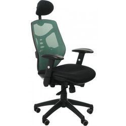 Fotel biurowy gabinetowy kb-8905/zielony - krzesło obrotowe marki Stema - kb
