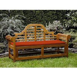 Ławka ogrodowa drewniana 180 cm poducha ceglasta JAVA Marlboro (4260586359633)