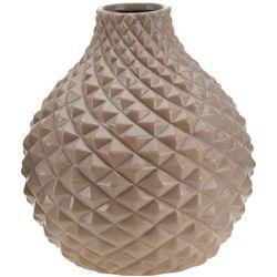 Ceramiczny wazon na kwiaty, dekoracje - okrągły Ø 21 cm, B01N6HKB3S