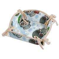 koszyk na pieczywo, zielone czaszki na błękitnym tle, 20x20 cm, freestyle marki Dekoria