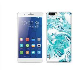 Fantastic Case - Huawei Honor 6 Plus - etui na telefon Fantastic Case - niebieski marmur