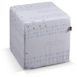 Dekoria Pufa kostka, różowo-niebieskie pajacyki, 40 × 40 × 40 cm, Apanona do -30%