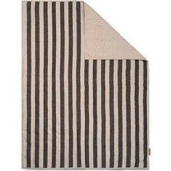 Koc piknikowy grand w paski 120 x 170 cm czarno-beżowy (5704723272854)