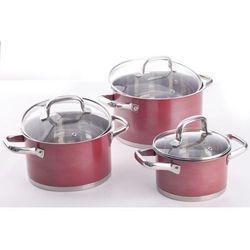 AMBITION SPRING RED Garnki 2 - 6.1 L zestaw 6 el. indukcja, kolor czerwony