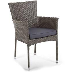 Fotel technorattanowy flores grey z poduszką marki Home & garden