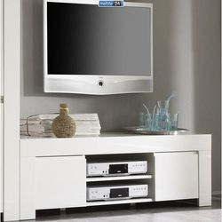 Biała szafka telewizyjna włoska AMANDA 01 140/45cm - LC