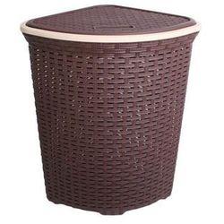 Kosz na pranie półkole brązowy - duży (5907569718801)