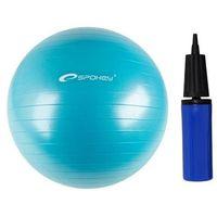Piłka gimnastyczna + pompka  65 cm - błękit - niebieski marki Spokey