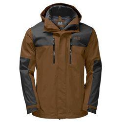 Przeciwdeszczowa kurtka męska JASPER FLEX MEN bark brown - XXL (4060477127675)