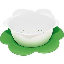 Durszlak z podstawką ZAK! Designs średni biało-zielony z kategorii Durszlaki, cedzaki i sitka