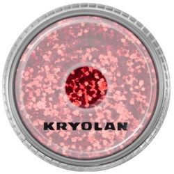 Kryolan  polyester glimmer coarse (bright red) gruby sypki brokat - bright red (2901)