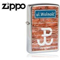 Zapalniczka benzynowa Zippo Ul.Wolność, Brushed Chrome