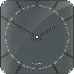 Zegar ścienny basic square dome grey by marki Nextime