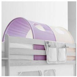 TICAA Tunel do łóżek piętrowych Classic kolor fioletowo-beżowy (4250393809452)