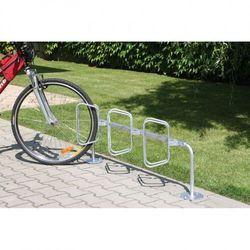 Jednostronny stojak na rowery z prostopadłymi uchwytami wyprodukowany przez B2b partner