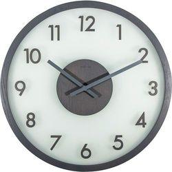 Zegar na ścianę frosted wood  szary marki Nextime
