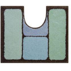 Grund Dywanik łazienkowy Cosmic, lodowy niebieski / brązowy, 60x50 cm