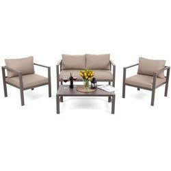 Zestaw mebli aluminiowych stół, krzesła, kanapa Pampeluna D