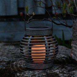 Best season Brązowa lampa solarna lantern imituj. rattan, led (7391482010537)