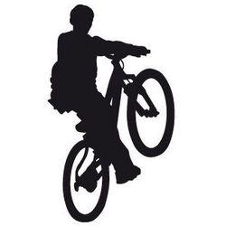 Szablon malarski z tworzywa, wielorazowy, wzór dla dzieci 32 - rowerzysta marki Szabloneria